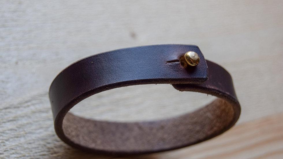 Leather Bracelet -  Brown Horween Chromexcel - Unisex