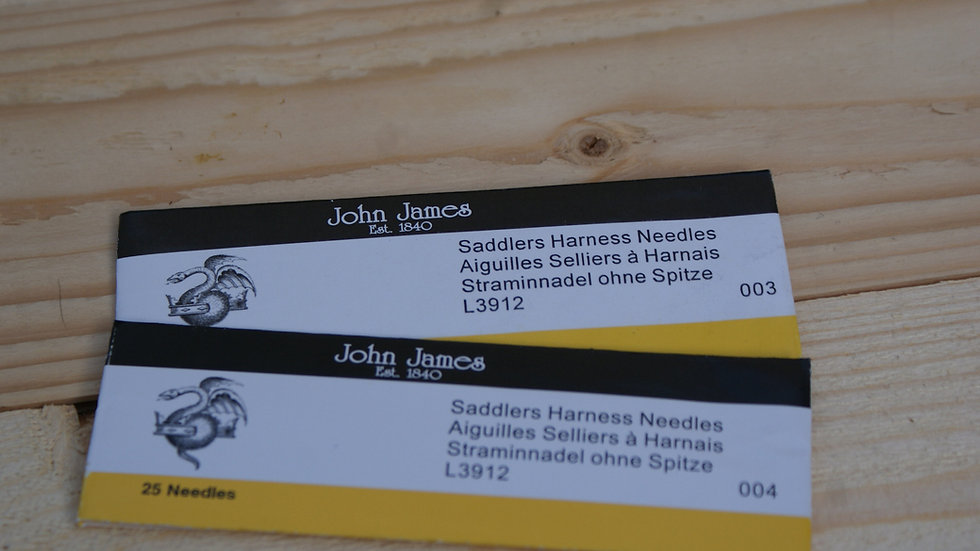 John James Harness Needle Blunt Pointed