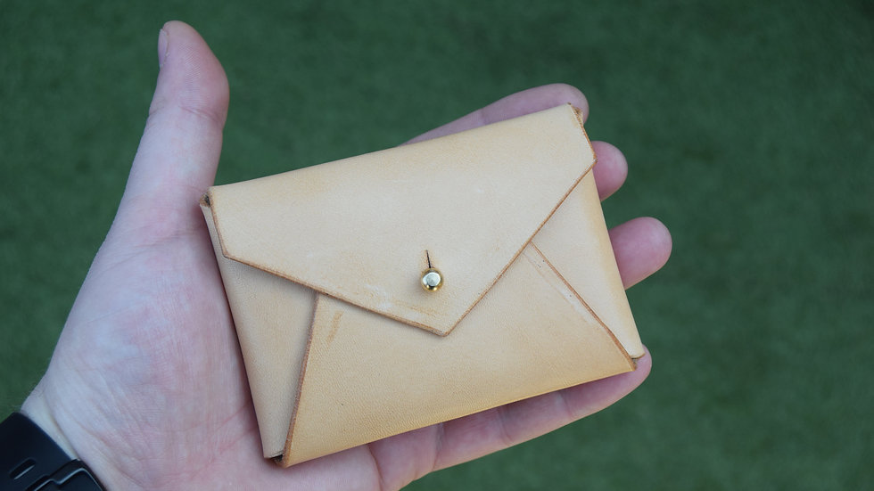 Horseman Card Wallet  - Veg Tan Leather - Natural