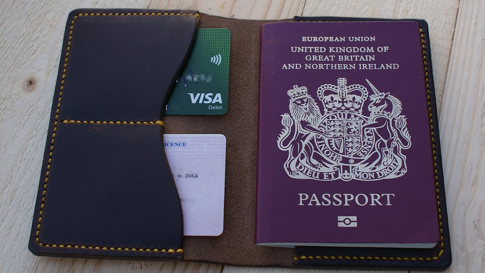Leather Passport Case - Card Wallet