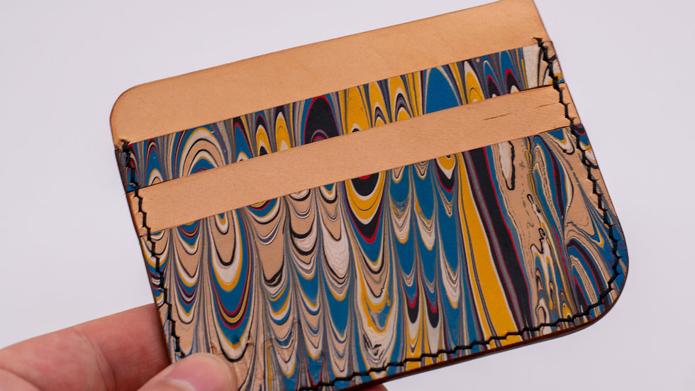 Hand Marbled Card Wallet