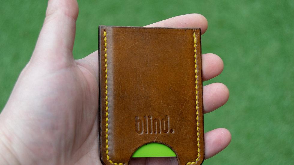 Minimalist leather card wallet