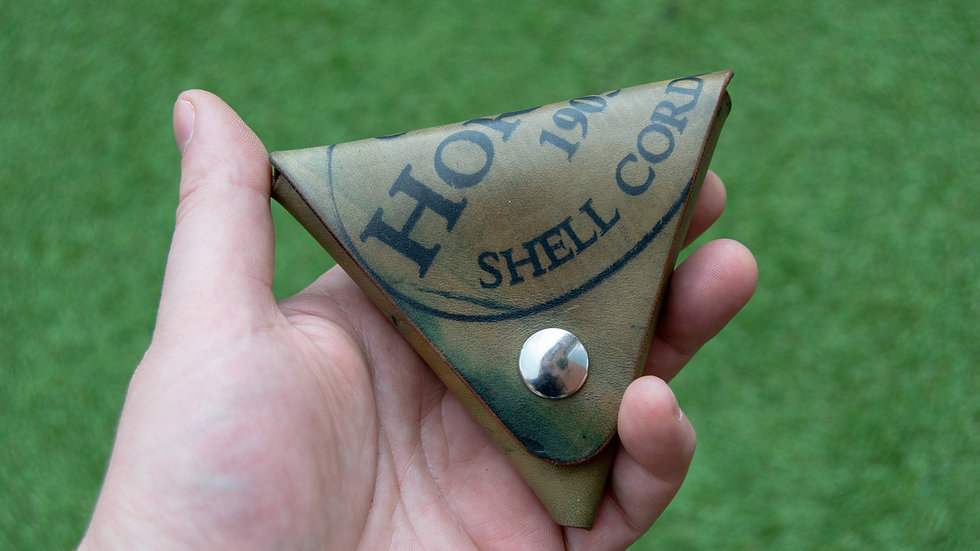 Triangle Coin Pouch - Horween Shell Cordovan - Cash Holder