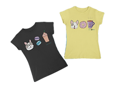 mockup-of-two-matching-t-shirts-placed-o