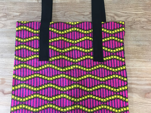 "Handmade ""Pink bling"" cotton shopping bag"