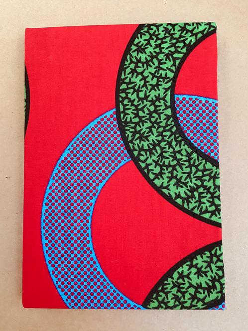 Red & Green African Wax Print sketchbook