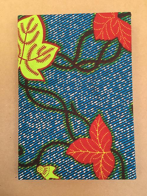 African Wax leaf print sketchbook