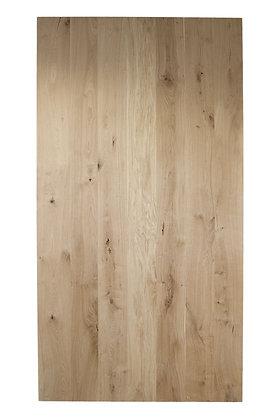 Tischplatte Wildeiche Massivholz gerade Kante ab: