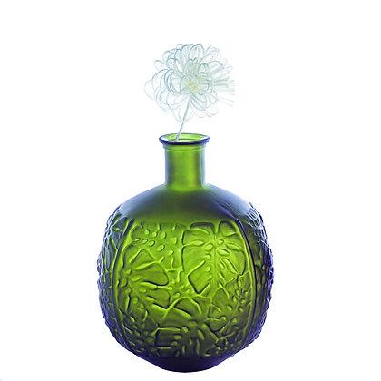 "Bodenvase ""Leaves"" Glas 100 % recycelt H:42cm"