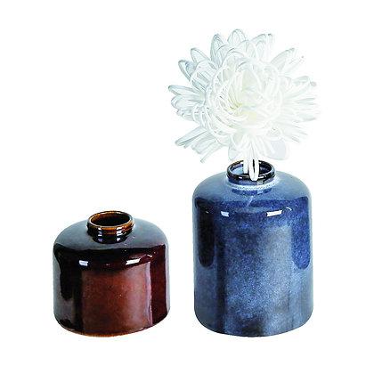 Vase Keramik blau H:18cm