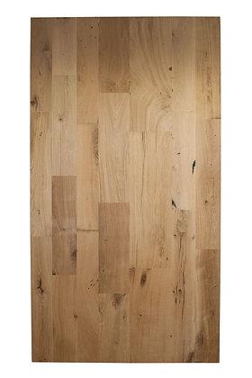 Tischplatte Eiche Altholz Massivholz gerade Kante ab: