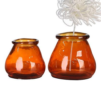 """Vase """"Gerona"""" Glas 100% recycelt H:12cm"""