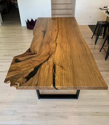 Highly Figured Elm Dining Table