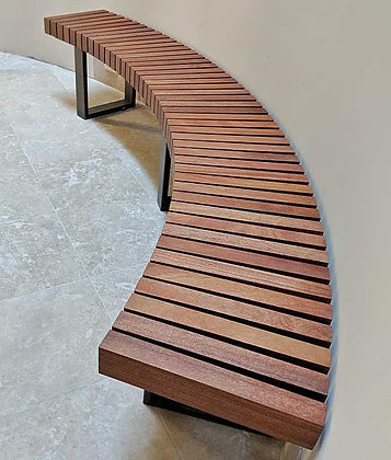 Mahogany Curved Bench