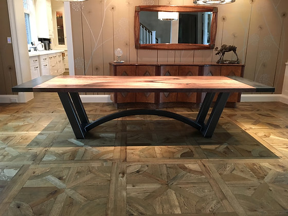 Walnut Dining Table with Breadboard Accent