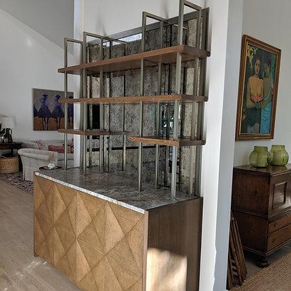 Bar Shelves and Mirror Frame