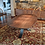 Thumbnail: Walnut Dining Table with Rolled Steel Legs