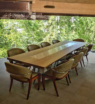 Bookmatched Ash Dining Table