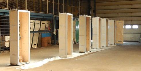 Ombouw prefab meterkast van CEHEtech in de werkplaats