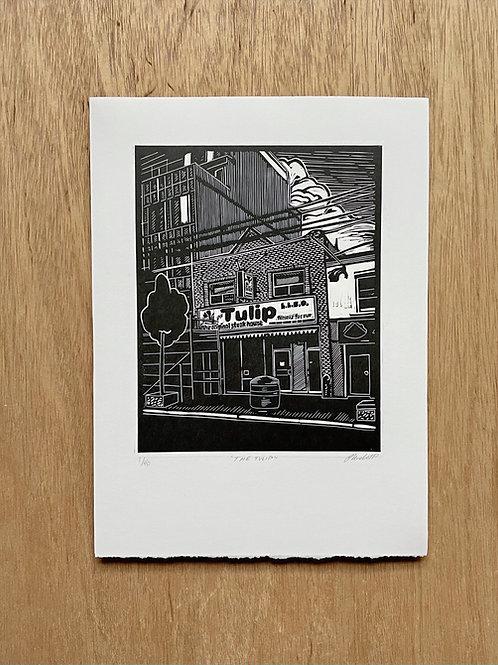 The Tulip Linocut Print