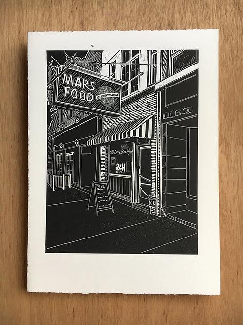 Mars Food Diner Print