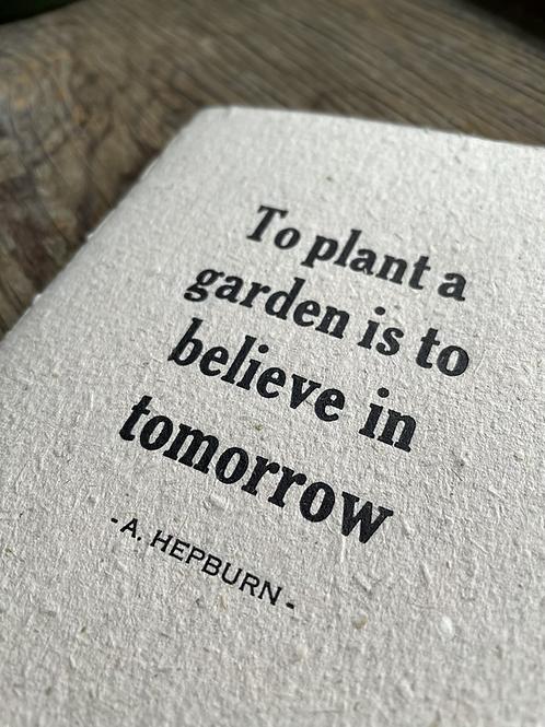 Believe in Tomorrow Letterpress Notebook