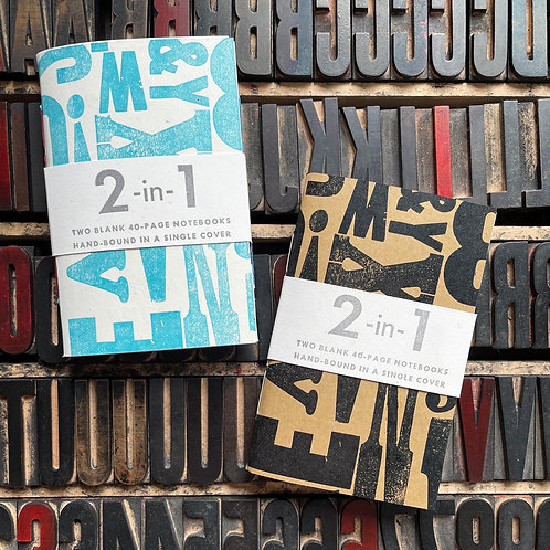 """Limited Edition """"2-in-1"""" Letterpress notebook"""