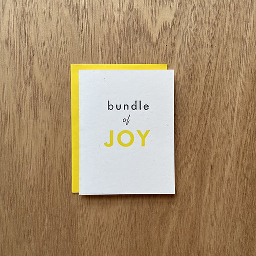 Bundle of JOY letterpress card