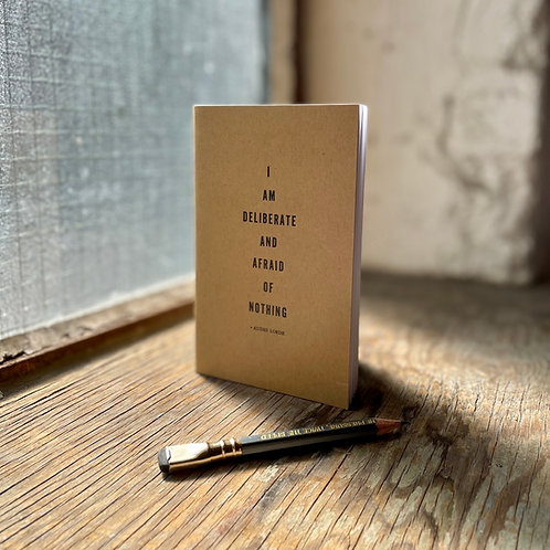 Quote - Audre Lorde- Letterpress Notebook
