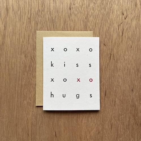 XO letterpress card