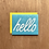Thumbnail: Hello Linocut letterpress card