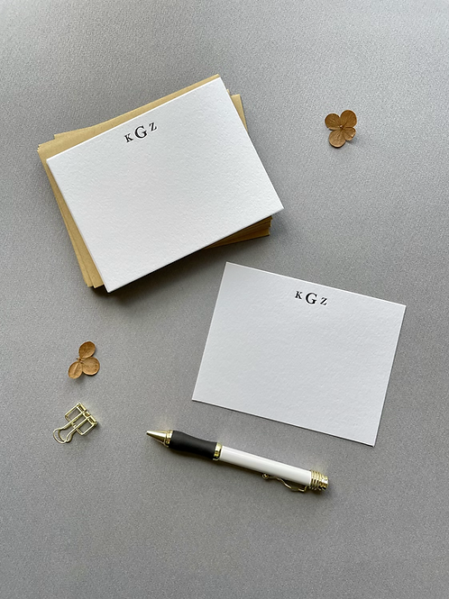 Couple's Monogram Personalized Stationery