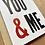 Thumbnail: You & Me letterpress card