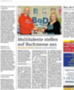 Artikel im Hamburger Wochenblatt über Stefan Wahle auf der Leipziger Buchmesse