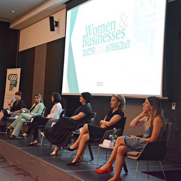 """ბიზნეს ლიდერთა ფედერაციის """"ქალები მომავლისთვის""""პროექტის შუალედური შედეგების პრეზენტაცია"""