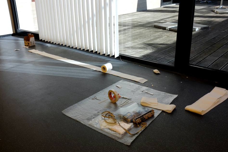 Clean Sheet, 2017, site-specific installation, Zsolnay Quarter, m21 Gallery, Pecs