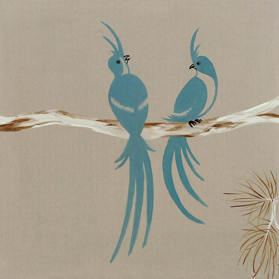 Birds, 2009, oil on canvas, 70 x 70 cm