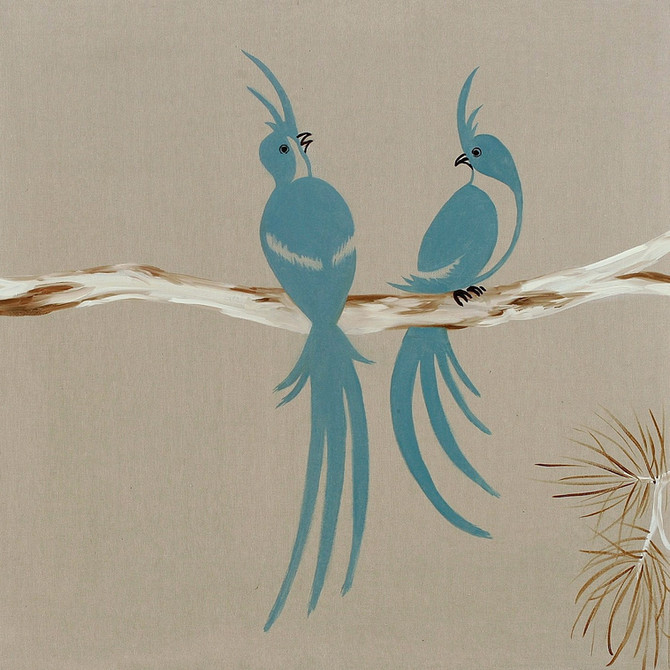 Birds, 2009, oil on canvas, 70 x 70 cm