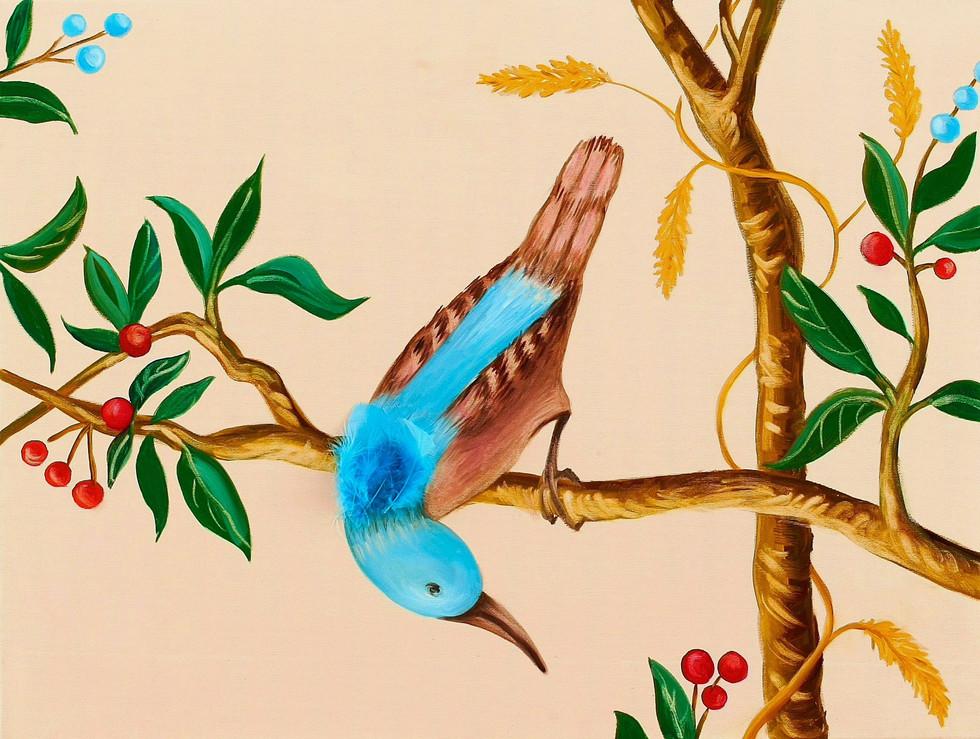 Bird, 2009, oil on canvas, application, 60 x 90 cm