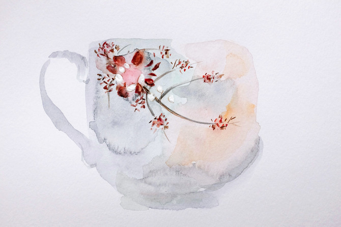 Bone China, 2018, watercolour on paper, 15 x 21 cm