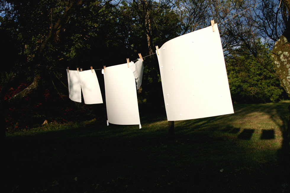 White Wash (90 C°), 2010, installation, residency, Vaszoly