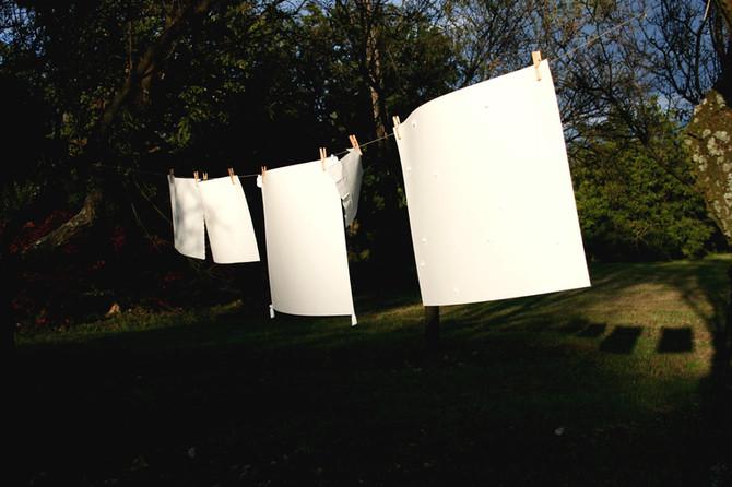 White Wash (90 C°), 2010, installation, residency, Vaszoly
