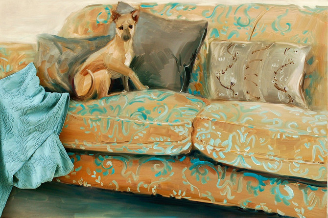 Greyhound, 2009, oil on canvas, application, 100 x 150 cm