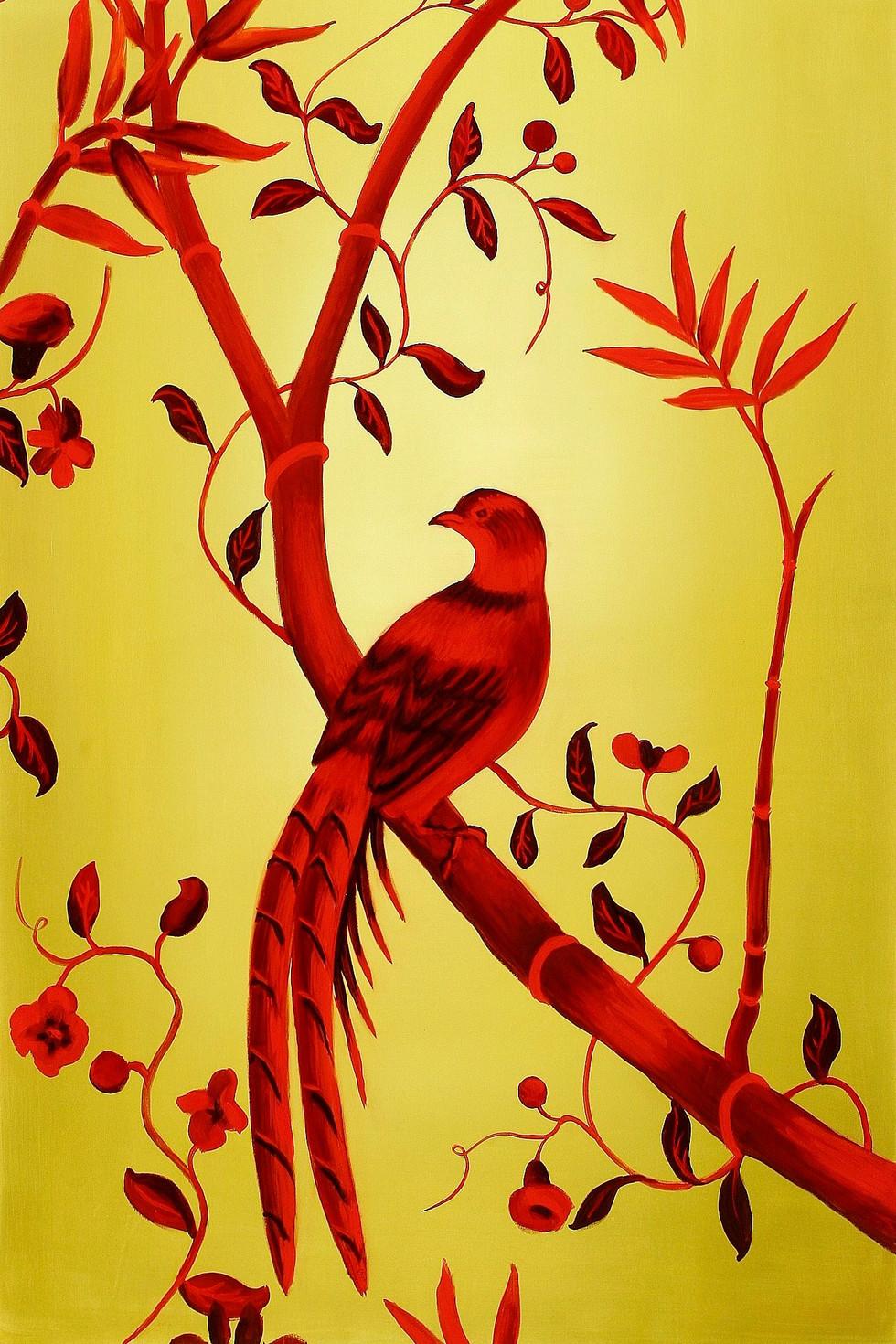 Bird, 2009, oil on canvas, 140 x 90 cm