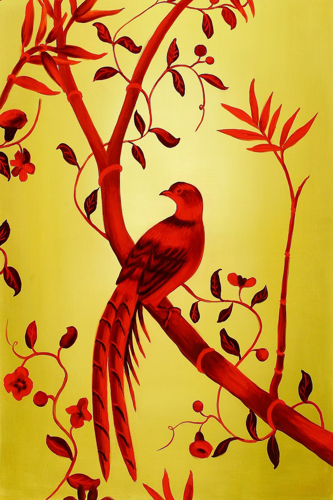 Bird, 2009, oil on canvas, 140 x 90 cm