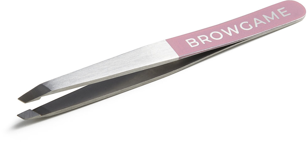 Browgame Cosmetics Original Slanted Tweezer Pink
