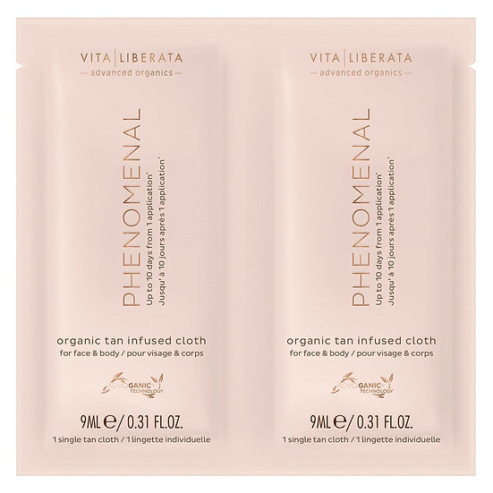 VITA LIBERATA Phenomenal Organic Tan Infused Cloths 8x9ml
