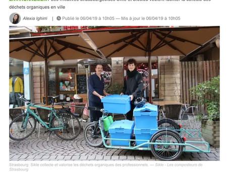 Au guidon des vélos Sikle ou Bioclou, ils se mettent en selle pour récupérer les déchets alimentaire