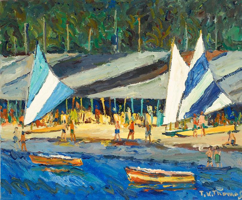 Sailboats at Puerto Marquez, Mexico