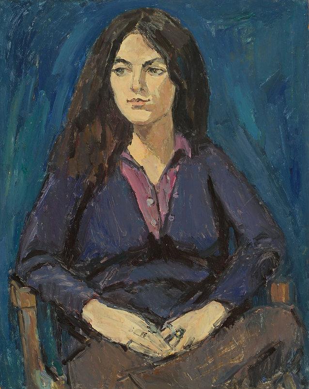Portrait Fille (Bleu)